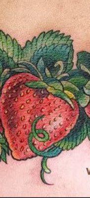 фото тату клубника (Strawberry Tattoos) (значение) – пример рисунка – 077 tatufoto.com