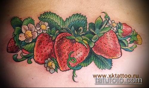 фото тату клубника (Strawberry Tattoos) (значение) - пример рисунка - 077 tatufoto.com