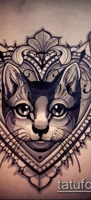 фото тату кот (значение) – пример интересного рисунка тату – 006 tatufoto.com