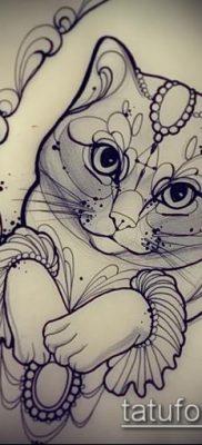 фото тату кот (значение) – пример интересного рисунка тату – 010 tatufoto.com
