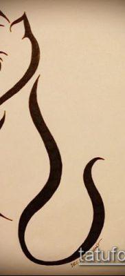 фото тату кот (значение) – пример интересного рисунка тату – 013 tatufoto.com