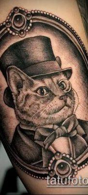 фото тату кот (значение) – пример интересного рисунка тату – 019 tatufoto.com