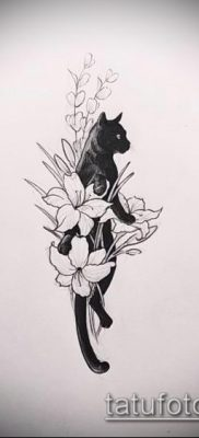 фото тату кот (значение) – пример интересного рисунка тату – 024 tatufoto.com