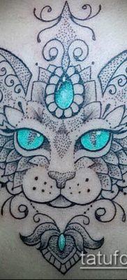 фото тату кот (значение) – пример интересного рисунка тату – 029 tatufoto.com
