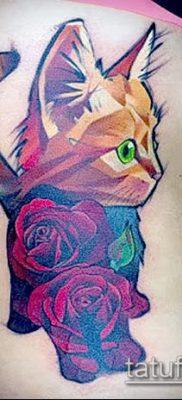 фото тату кот (значение) – пример интересного рисунка тату – 033 tatufoto.com