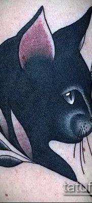 фото тату кот (значение) – пример интересного рисунка тату – 034 tatufoto.com