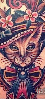 фото тату кот (значение) – пример интересного рисунка тату – 036 tatufoto.com
