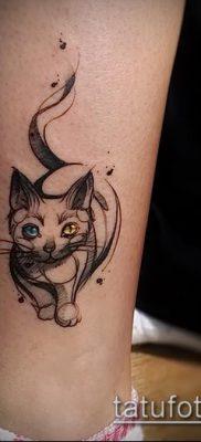 фото тату кот (значение) – пример интересного рисунка тату – 053 tatufoto.com