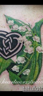 фото тату ландыши (lilies of the valley tattoo) (значение) – пример рисунка – 006 tatufoto.com