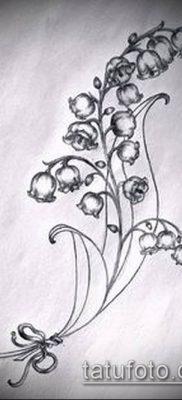 фото тату ландыши (lilies of the valley tattoo) (значение) – пример рисунка – 014 tatufoto.com