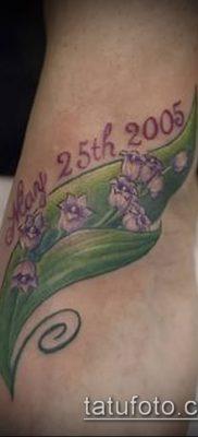 фото тату ландыши (lilies of the valley tattoo) (значение) – пример рисунка – 019 tatufoto.com