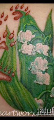 фото тату ландыши (lilies of the valley tattoo) (значение) – пример рисунка – 026 tatufoto.com