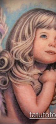 Пример варианта татуировки с лицом – рисунок – фото