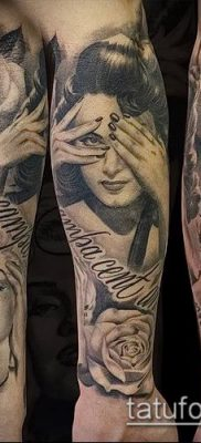 фото тату лицо (portrait tattoo) (значение) – пример рисунка – 090 tatufoto.com