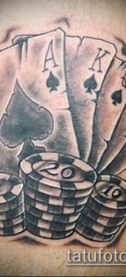 фото тату масти карт (tattoo card suit) (значение) – пример рисунка – 013 tatufoto.com
