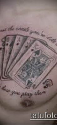 фото тату масти карт (tattoo card suit) (значение) – пример рисунка – 015 tatufoto.com