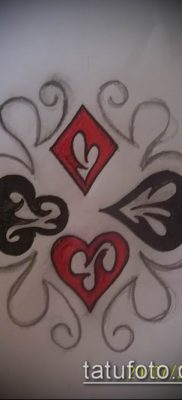 фото тату масти карт (tattoo card suit) (значение) – пример рисунка – 029 tatufoto.com