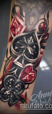 фото тату масти карт (tattoo card suit) (значение) – пример рисунка – 030 tatufoto.com