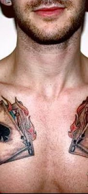 фото тату масти карт (tattoo card suit) (значение) – пример рисунка – 031 tatufoto.com