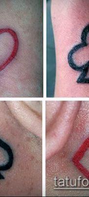 фото тату масти карт (tattoo card suit) (значение) – пример рисунка – 047 tatufoto.com