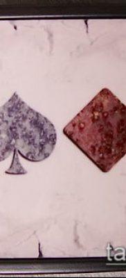 фото тату масти карт (tattoo card suit) (значение) – пример рисунка – 052 tatufoto.com