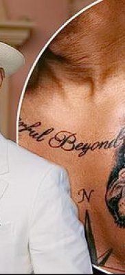 мужская тату на груди – фото вариант – пример