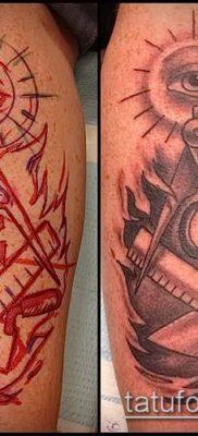 фото тату на ляжке (tattoo Masons) (значение) – пример рисунка – 002 tatufoto.com
