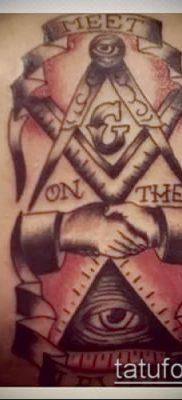 фото тату на ляжке (tattoo Masons) (значение) – пример рисунка – 008 tatufoto.com