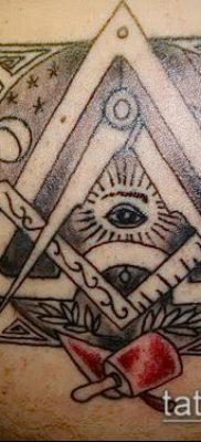 Пример на фото с масонской татуировкой – рисунок – фото
