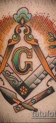 фото тату на ляжке (tattoo Masons) (значение) – пример рисунка – 030 tatufoto.com