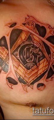 фото тату на ляжке (tattoo Masons) (значение) – пример рисунка – 032 tatufoto.com