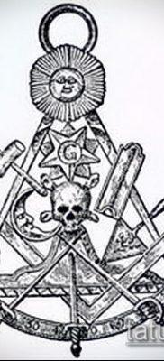 фото тату на ляжке (tattoo Masons) (значение) – пример рисунка – 033 tatufoto.com