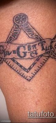 фото тату на ляжке (tattoo Masons) (значение) – пример рисунка – 037 tatufoto.com