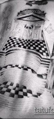 фото тату на ляжке (tattoo Masons) (значение) – пример рисунка – 047 tatufoto.com