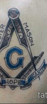 фото тату на ляжке (tattoo Masons) (значение) – пример рисунка – 049 tatufoto.com