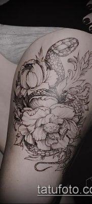 фото тату на ляжке (tattoo on thigh) (значение) – пример рисунка – 103 tatufoto.com