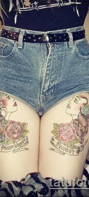 фото тату на ляжке (tattoo on thigh) (значение) – пример рисунка – 121 tatufoto.com