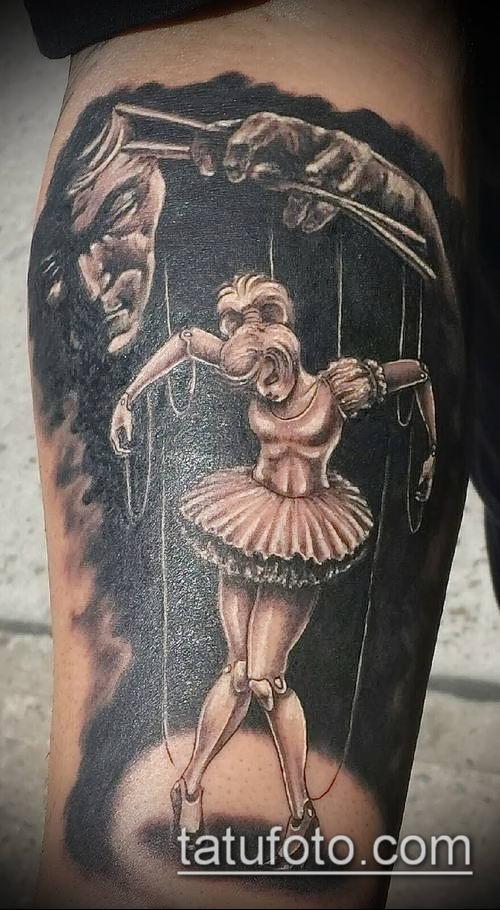 фото тату нитки с марионетка (tattoo) (значение) - пример рисунка - 002 tatufoto.com
