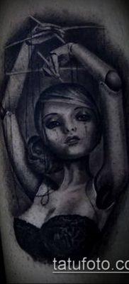 фото тату нитки с марионетка (tattoo) (значение) – пример рисунка – 003 tatufoto.com