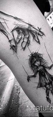 фото тату нитки с марионетка (tattoo) (значение) – пример рисунка – 006 tatufoto.com