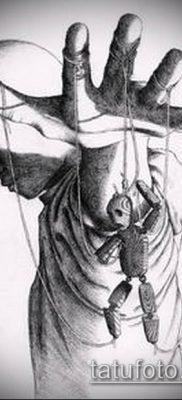 фото тату нитки с марионетка (tattoo) (значение) – пример рисунка – 008 tatufoto.com
