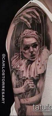 фото тату нитки с марионетка (tattoo) (значение) – пример рисунка – 009 tatufoto.com