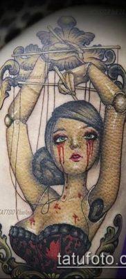 фото тату нитки с марионетка (tattoo) (значение) – пример рисунка – 011 tatufoto.com