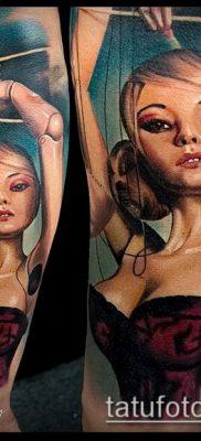 фото тату нитки с марионетка (tattoo) (значение) – пример рисунка – 014 tatufoto.com
