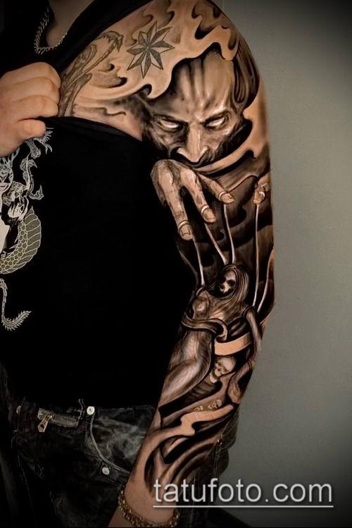 фото тату нитки с марионетка (tattoo) (значение) - пример рисунка - 017 tatufoto.com