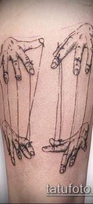 фото тату нитки с марионетка (tattoo) (значение) – пример рисунка – 018 tatufoto.com