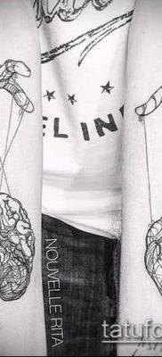 фото тату нитки с марионетка (tattoo) (значение) – пример рисунка – 020 tatufoto.com