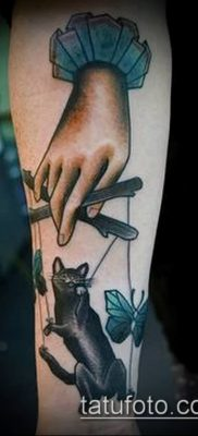 фото тату нитки с марионетка (tattoo) (значение) – пример рисунка – 026 tatufoto.com