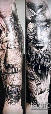 фото тату пират (значение) – пример интересного рисунка тату – 026 tatufoto.com