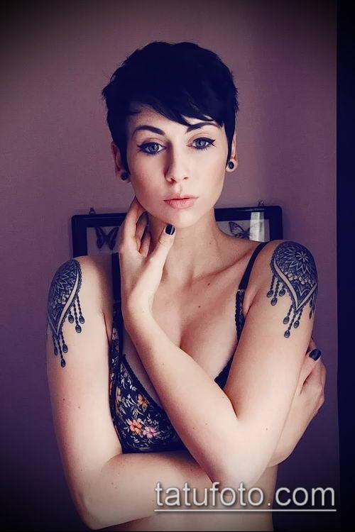 фото тату погон (tattoo epaulettes) (значение) - пример рисунка - 048 tatufoto.com